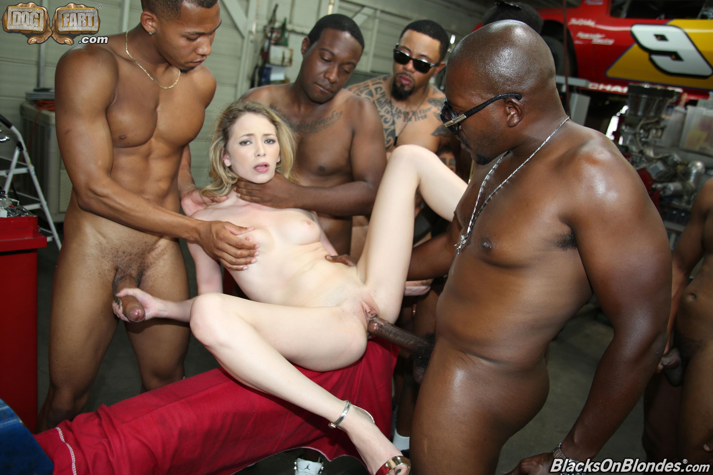 Black Men White Woman Interracial Sex Gif