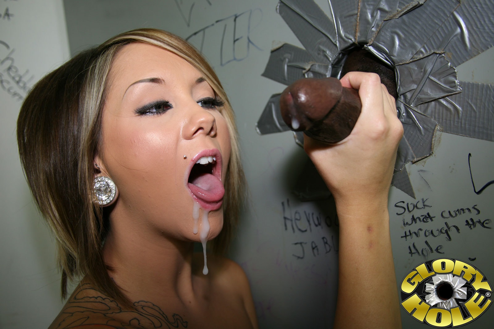 Real gloryhole blowjob compilation