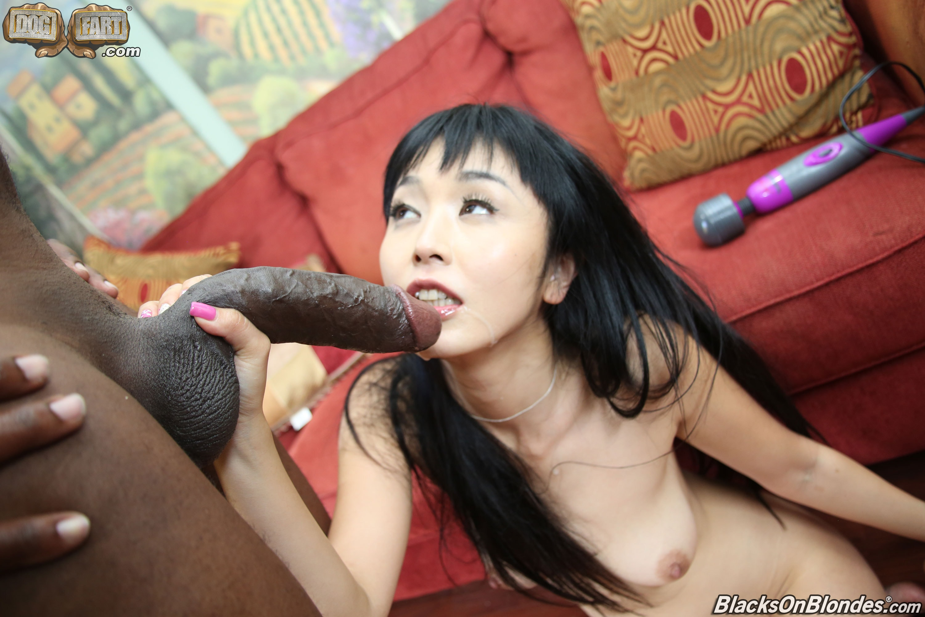 Little asian girl and big black cock for some interracial porn
